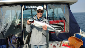 Greater Syracuse Hall of Fame hockey player Brian Elwell with a beautiful spring king today. What a battle