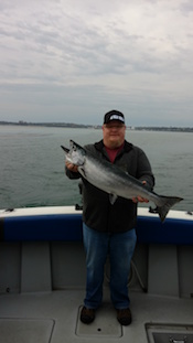 Ken Esser of Oswego NY with his spring salmon