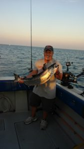 Mike from Ithaca NY with nice silver King Salmon.