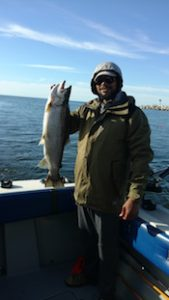 Nice spring king salmon caught by Chris Nichols of Baldwinsville NY.