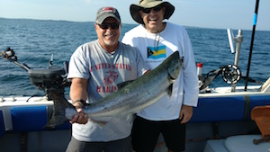 Ricky of Fulton NY with his King Salmon.