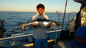 Ron of Fulton NY with a nice King Salmon.