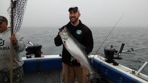 We caought a nice Atlantic Salmon on this mornings trip.
