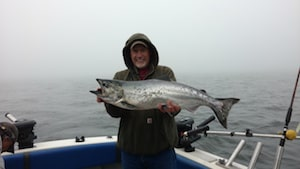Wounded Warrior Brice with a nice Salmon.
