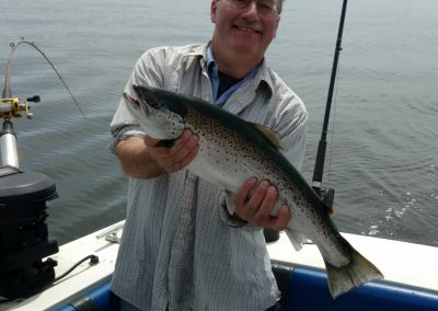 Phil of Boston, MA with a nice brown trout !