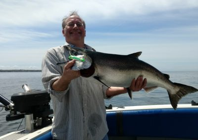 Phil of  Boston ,MA with a beautiful spring king salmon