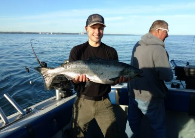 Ethan of Maine with another nice spring king
