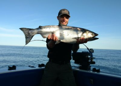 Ethan of  Maine with a nice spring king